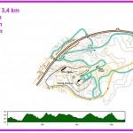 Latukartta Vuokatti 3,4km