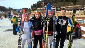 M21 viestijoukkue, vasemmalta Teemu Huhtala, Olli Jaakkola, Tero Seppälä, Mikko Loukkaanhuhta.
